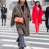 Mix a Leopard Coat With Neutral Checks