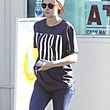Kristen Stewart made a Wednesday market run in LA.