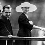 Prince Rainier welcomes Grace Kelly.