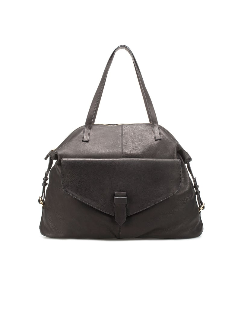 How chic is this bag? Not too big, unbelievably sleek, and ideal for any season. Zara City Bag With Zip ($130, originally $169)