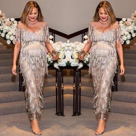 Chrissy Teigen's Silver Fringe Dress