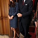 Kate Middleton and Prince William attended an April 26 event.