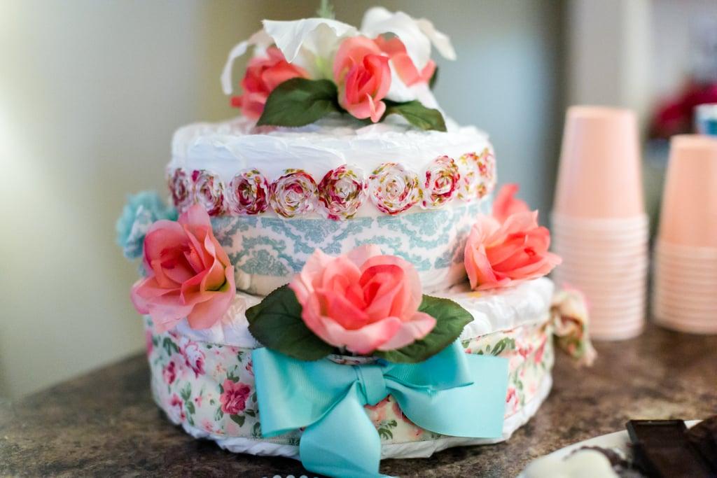 Colorful Diaper Cake