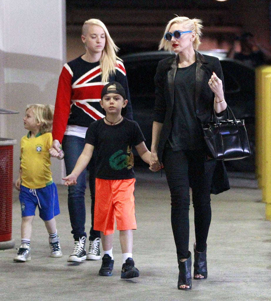 Gwen Stefani and her boys, Kingston and Zuma, stopped by an LA Target on Saturday.