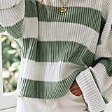 Zesica Long-Sleeve Crewneck Striped Sweater