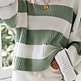 Zesica Long-Sleeve Crewneck Striped Sweater