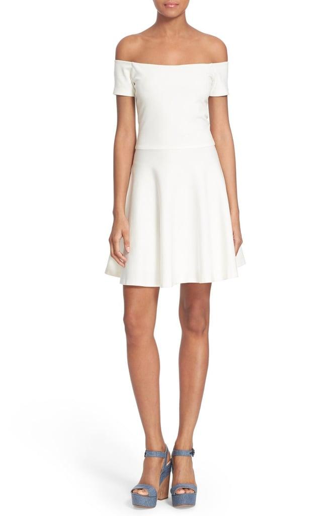 Alice + Olivia 'Carisi' Off the Shoulder Fit & Flare Dress ($275)