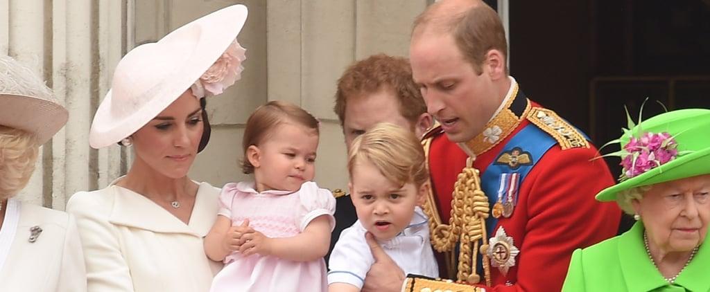 الأميرة تشارلوت العائلة الملكية تروبنغ ذا كولور موضة 2016