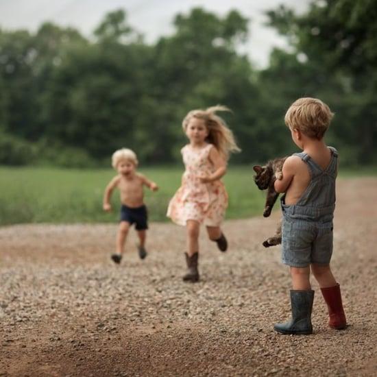 Mum's Photos of Kids on Family's Farm