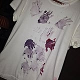 Victoria Beckham got her kids to decorate a shirt for their dad, David Beckham. Source: Twitter user victoriabeckham