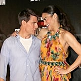 Tom Cruise made Paula Patton laugh on the red carpet.