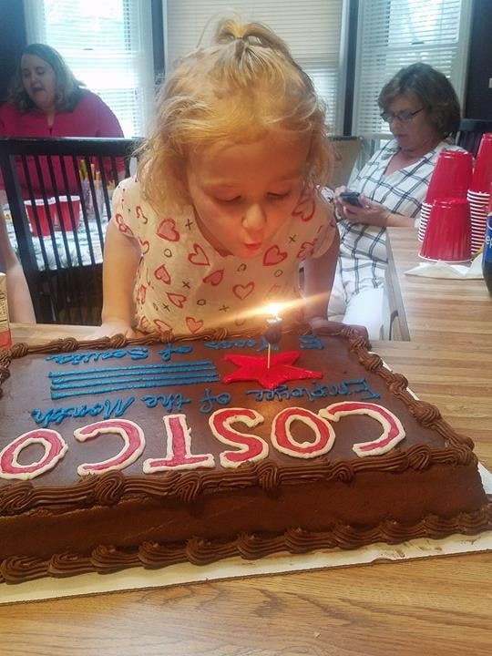 "5-year-old Kimber Walker from North Carolina insisted on having a Costco-themed birthday party for two years straight until her mother finally gave in. ""She loves Costco so much. She loves the pizza and the samples,"" her mother, Niki Walker, told POPSUGAR. After Kimber went through a lot of medical complications last year, Niki said Kimber deserved to have her Costco wish come true.  To bring her daughter's birthday party to life, Niki set up a mini Costco shop in their living space, complete with a cash register and printed dollar bills with Kimber's face on them. Kimber's epic Costco party also had sample stations for guests to do their food taste testing, which included Costco pizza and hotdogs, of course.  On her special day, Kimber was declared employee of the month and received a birthday gift from her local Costco store: her very own employee badge. ""She was thrilled,"" her mother said. ""[She] showed all of the employees the day she got it."" In addition to her employee badge and being employee of the month, there was a photo area set up for Kimber's birthday guests to take pictures underneath a sign that read just that. The party guests were also treated to their own membership cards, which they got to customize while stuffing their faces with Kirkland ice cream. Next year, Niki told us that Kimber plans to have a less unconventional birthday theme. ""She's thinking about having a Peppa Pig party."" We say if it's anything like this epic birthday bash, Kimber's already in for another great event. Read on to see all of the Costco-themed decor and activities Kimber got to enjoy at her epic birthday celebration."