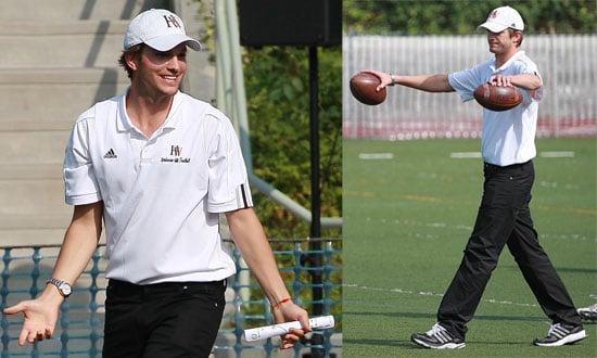 Photos of Ashton Kutcher as the New Assistant Coach of Harvard-Westlake High School Football