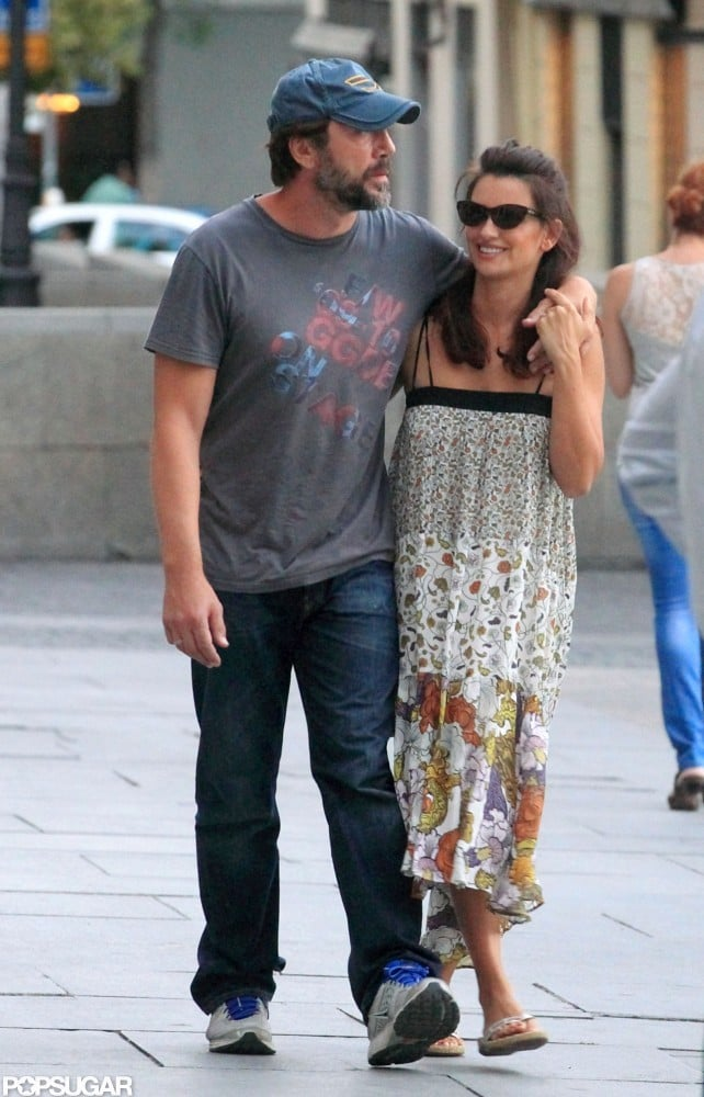 Penelope Cruz and Javier Bardem had the look of love when they left a Madrid restaurant today after lunch. Javier draped his arm around Penelope's shoulders, while she gripped his hand and smiled on their walk home. She was decked out in a flowy dress for their meal. There have been rumors that Penelope's pregnant with her and Javier's second child —they welcomed a son, Leo Bardem, in January 2011 —but her rep recently denied the stories. Nonetheless, the Spanish TV show Espejo Publico recently ran another story, allegedly confirmed by friends, that Penelope is indeed expecting. Either way, Penelope and Javier have some time to spend in their native Spain this Summer. She just wrapped up a press tour for To Rome With Love, and he'll be the next one on the PR circuit before Skyfall is out in November.