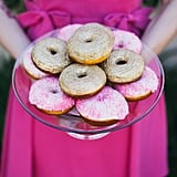 Who needs a cake when pink doughnuts exist?