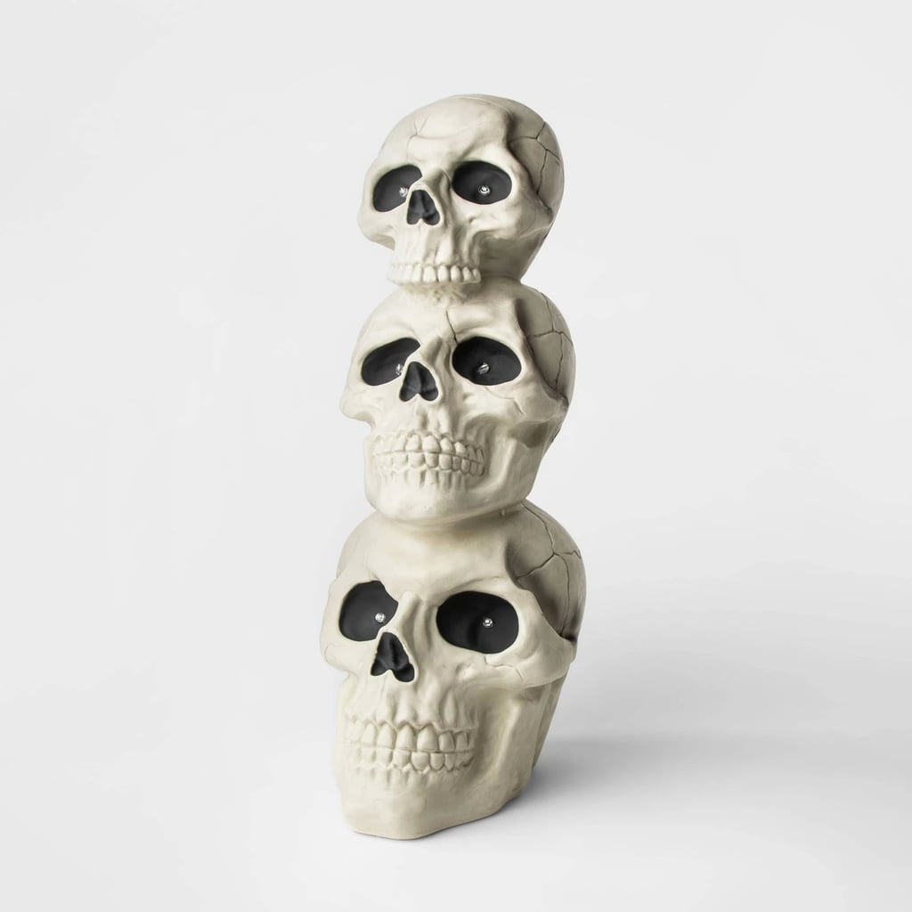 Animated Skull Totem Decorative Halloween Prop