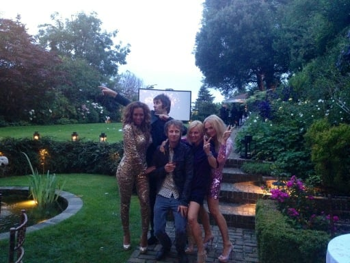 The Spice Girls partied into the wee hours of the morning following the closing ceremonies.  Source: Twitter user EmmaBunton