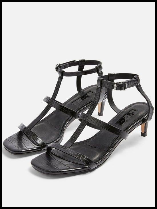 Topshop Ninja T-Bar Kitten Heel Sandals