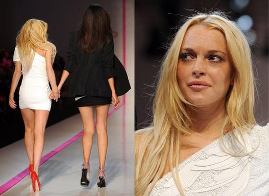 Photos of Lindsay Lohan at Emanuel Ungaro