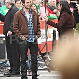 Robert Pattinson looked over his notes for The Today Show.