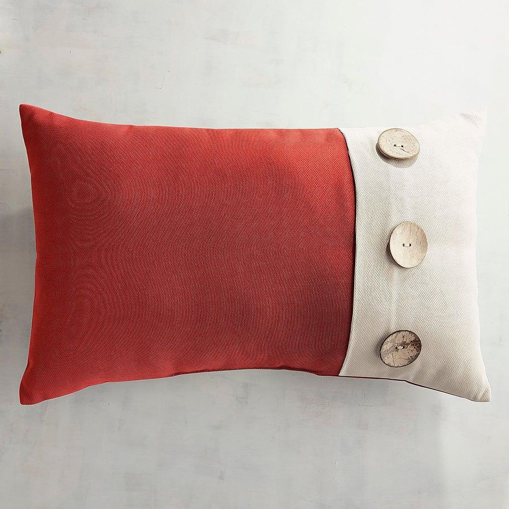 Calliope Button Spice Lumbar Pillow