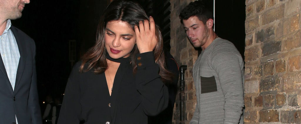 Priyanka Chopra in Polka-Dot Pants With Nick Jonas