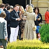 Kate Moss attended Jade Jagger's wedding.
