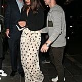 Priyanka Chopra in Polka-Dot Pants With Nick Jonas