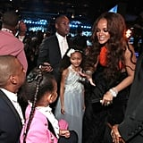 Rihanna and Blue followed up their 2015 Grammys rendezvous with another sweet interaction at the 2017 Grammys.