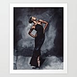 Misty Copeland Ballerina Dancer in Black Dress Vogue Art Print