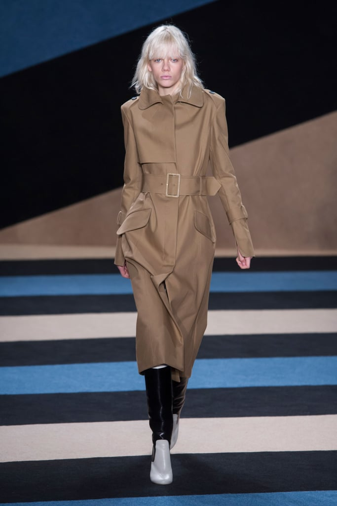 We spotted belted coats like Kate's on the Derek Lam Fall '16 runway.