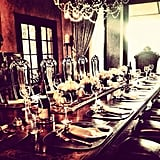 Nicole Richie set the table for dinner. Source: Instagram user nicolerichie