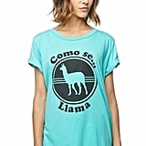 Local Celebrity Como Se Llama Schiffer Tee in Pool ($48)