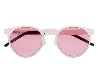 """Everything seems a little brighter through these rose colored Illesteva lenses!"" Illesteva Round-Frame Metal Sunglasses ($260)"