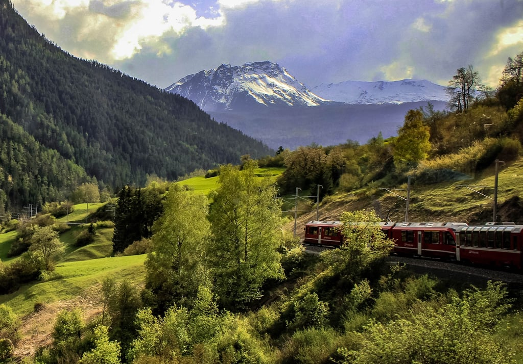 Bernina Express Train Route