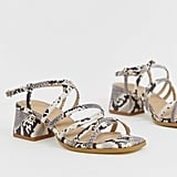 RAID Fabrizia Snake Effect Strappy Heeled Sandals