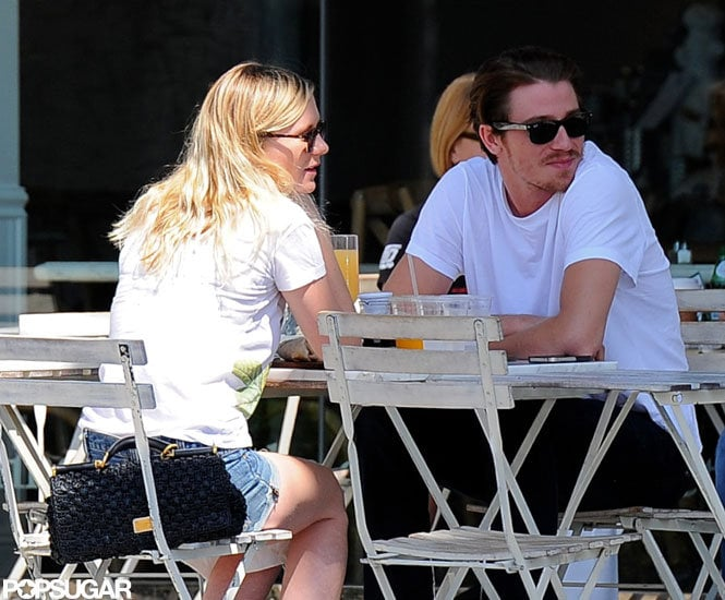 Kirsten Dunst and Garrett Hedlund headed out for brunch with friends on Saturday in LA. The pair are spending time in LA following Kirsten's trip to London, where she was spotted in the stands at the women's basketball semifinals, cheering on Team USA, last week. Kirsten was one of the many celebrities at the London Olympics, which wrapped up last night with a closing ceremony featuring a Spice Girls reunion and performances by several other major English musicians and bands. Kirsten and Garrett have been dating since shooting On the Road together. Their costar Kristen Stewart posed with Garrett for Marie Claire's September issue in a spread with their leading man, Sam Riley, to promote the upcoming movie, which is slated for release in December.