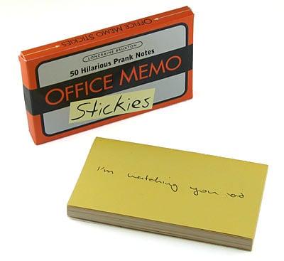 Prank Memo Sticky Notes