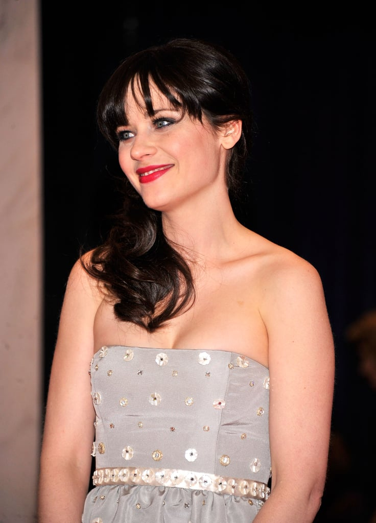 Zooey Deschanel looked sweet at the White House Correspondant's Dinner.