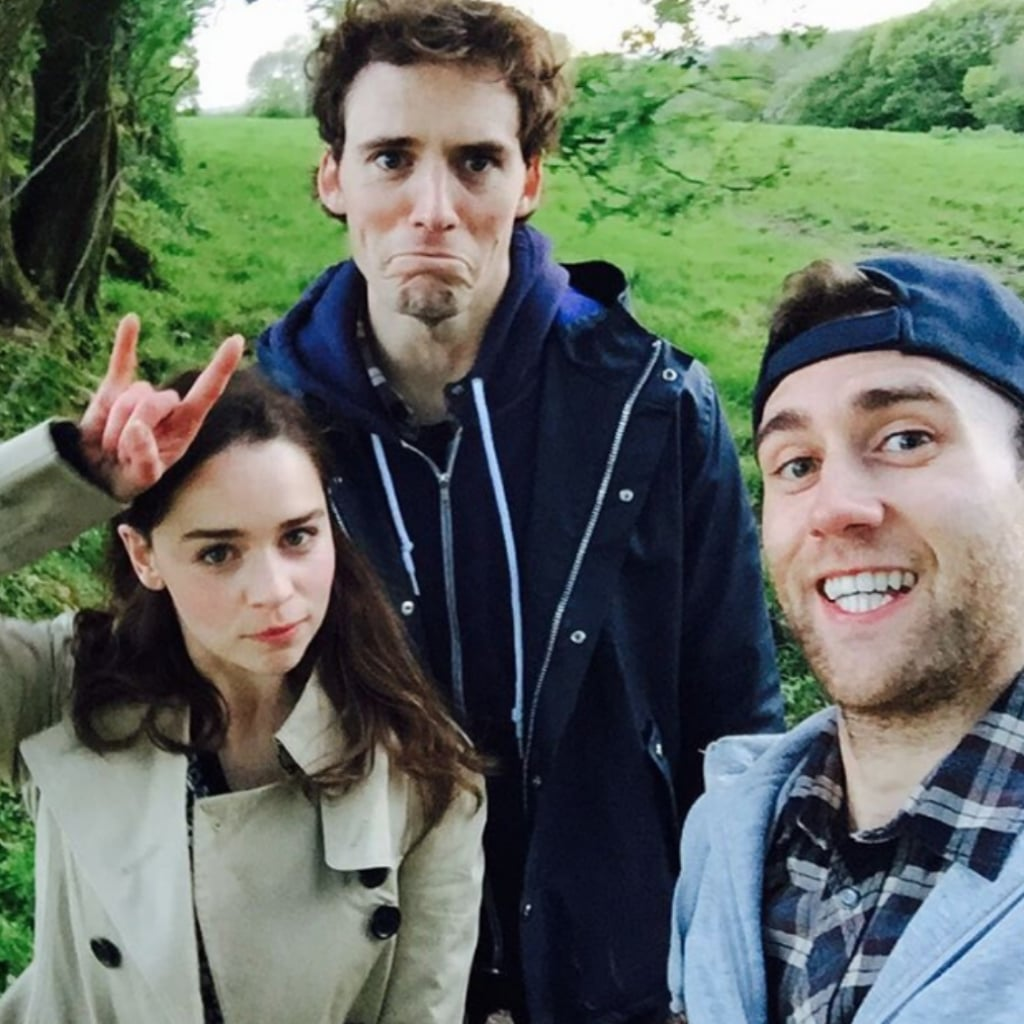 Me Before You Cast Hanging Out in Real Life Pictures