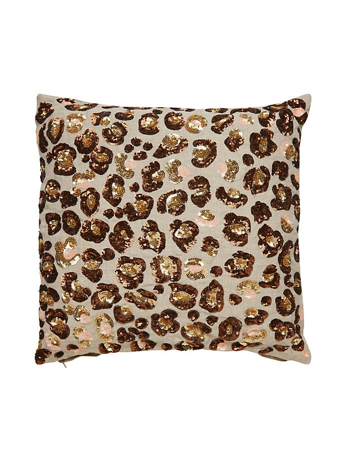 Sequin Leopard Pillow ($149)