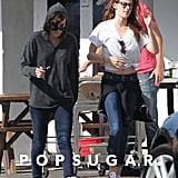 Kristen Stewart wore glasses.