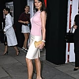 Melania attended the Betsey Johnson Spring 2004 show when Fashion Week still took place at Bryant Park in New York in 2003.