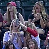 Sports announcers made fun of these sorority girls for snapping selfies, but the Internet showed their support for them.