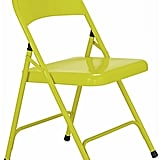 Habitat Macadam Yellow Metal Folding Chair (£10)