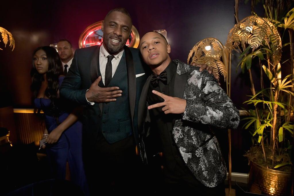 Idris Elba and DeRon Horton at the Golden Globes 2019