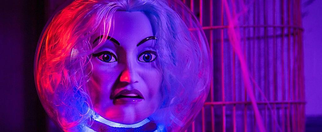 Animated Madame Leota Crystal Ball Halloween Decoration