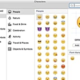 You can also easily use other symbols or emoji on your Mac.