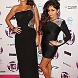 J Woww and Snooki hit the pre-show together.