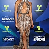 Backstage at the Billboard Latin Music Awards in April 2017